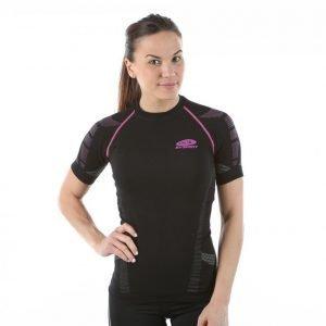 Bv Sport N3r Femina Haut Tech Court Shirt Treenipaita Musta / Roosa