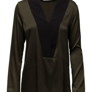 By Malina Stacy Tuxedo Blouse pitkähihainen pusero