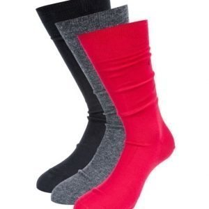 Calvin Klein 3-pack Socks E57 Red/Grey/Black