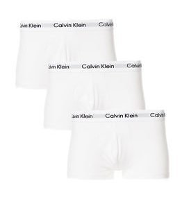 Calvin Klein 3pack Low Rise Trunk White