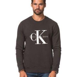 Calvin Klein CK Logo Crew Neck 965 Black