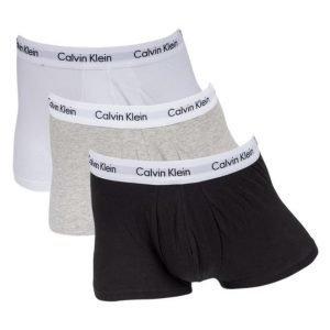 Calvin Klein Cotton Stretch Lowrise 3-pack Grey/White/Black