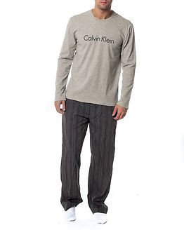 Calvin Klein Crew Neck Heather Grey/ Pant Minimal Stripe
