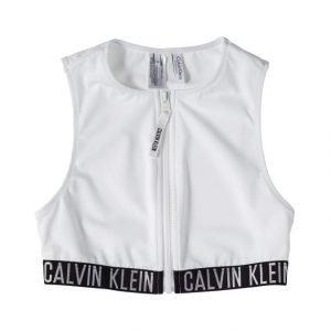 Calvin Klein Cropped Rash Vest Bikiniyläosa