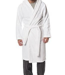 Calvin Klein Hooded Robe White