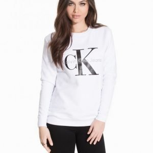 Calvin Klein Jeans Crew Neck Hwk Svetari Bright White