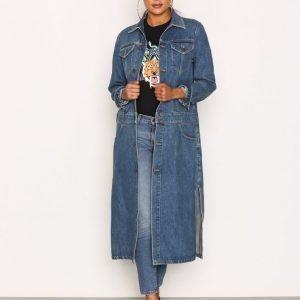Calvin Klein Jeans Denim Coat Rugged Pitkä Takki Blue