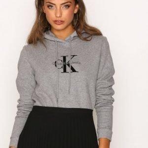 Calvin Klein Jeans Honor Pullover Hoody Hwk Svetari Light Grey Melange