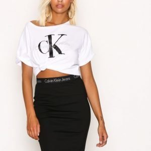 Calvin Klein Jeans Kiri Hwk Punto Skirt Midihame Black