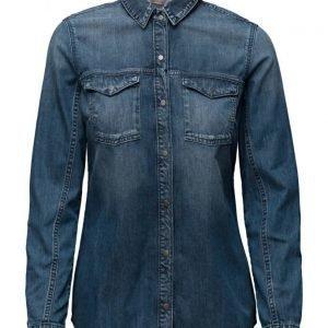 Calvin Klein Jeans Lean Shirt Mid Indigo pitkähihainen paita