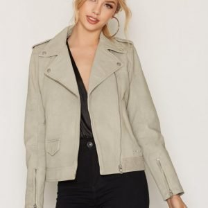 Calvin Klein Jeans Meadowy Leather Jacket Nahkatakki Vapor Blue