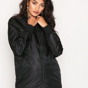 Calvin Klein Jeans Oakira Padded Long Bomber Takki Black
