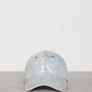 Calvin Klein Jeans Re-Issue Denim Cap Lippis Light Blue
