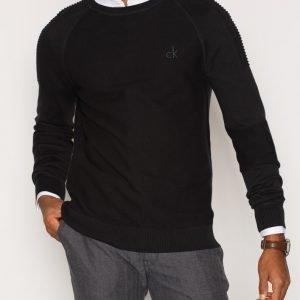 Calvin Klein Jeans Seize CN Moto Sweater LS Pusero Black