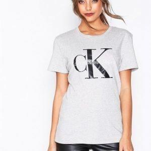 Calvin Klein Jeans Shrunken Tee T-Paita Light Grey