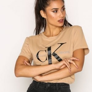 Calvin Klein Jeans Shrunken Tee T-Paita Tannin