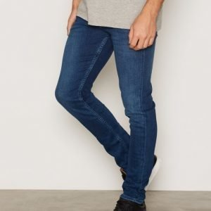 Calvin Klein Jeans Skinny Jeans Farkut Mid Blue