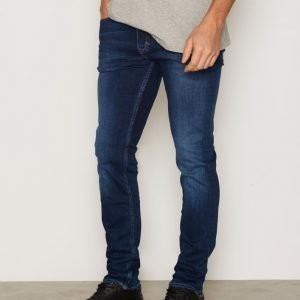 Calvin Klein Jeans Slim Straight Jeans Farkut Dark Blue