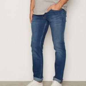 Calvin Klein Jeans Slim Straight Jeans Farkut Mid Blue