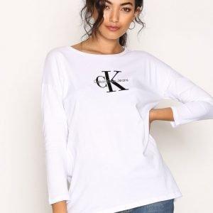 Calvin Klein Jeans Trix-5 True Icon Cn Hwk Pitkähihainen Paita Bright White