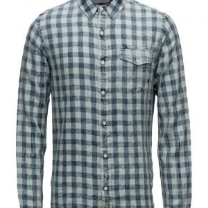 Calvin Klein Jeans Welton Bleached Check Shirt Ls