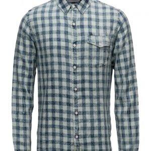 Calvin Klein Jeans Welton Bleached Check Shirt Ls