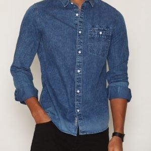 Calvin Klein Jeans Wilken Bleach Indigo Shirt L/S Kauluspaita Indigo