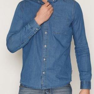 Calvin Klein Jeans Wilken Indigo Chambray Shirt L/S Kauluspaita Indigo