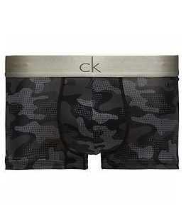 Calvin Klein Low Rise Trunk Camo Print Black