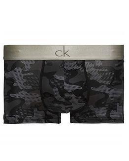 Calvin Klein Low Rise Trunk Camo Print Black