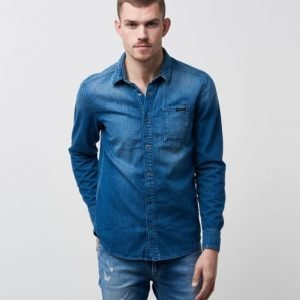Calvin Klein One Pocket Shirt 911 Lapis Blue