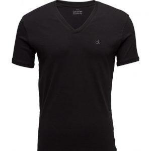Calvin Klein S/S Crossover V Neck lyhythihainen t-paita