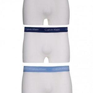 Calvin Klein Underwear 3-Pack Low Rise Trunk Bokserit Silver/Blue