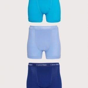 Calvin Klein Underwear 3-Pack Trunk Bokserit Silver/Blue
