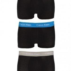Calvin Klein Underwear Cotton Stretch 3-Pack Low Rise Trunk Bokserit Black