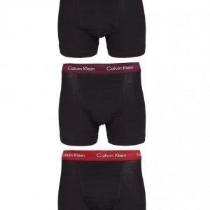 Calvin Klein Underwear Cotton Stretch 3-Pack Trunk Bokserit Black