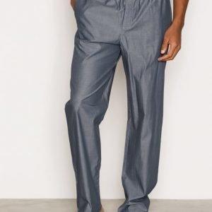 Calvin Klein Underwear Liquid Cotton Sateen PJ Pants Pyjamahousut Blue