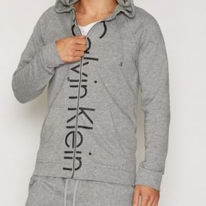 Calvin Klein Underwear Soft Lounge Logo Hooded Jacket Loungewear Grey