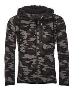 Camo Zipper Black