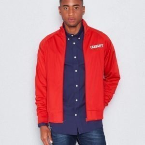 Carhartt College Track Jacket Rosehip/White