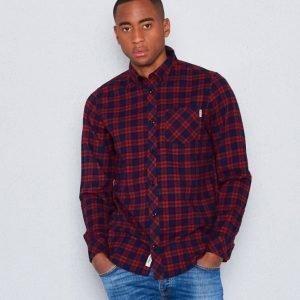 Carhartt L/S Shawn Check Shirt Grape Rinsed