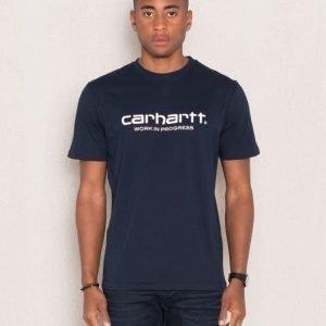 Carhartt S/S Wip Script Black/White