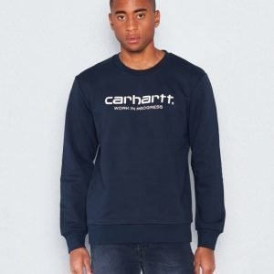 Carhartt Wip Script Sweatshirt Navy/White