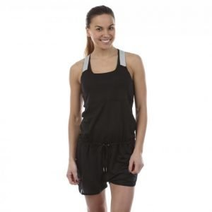 Casall Gravity Running One-Piece Jumpsuit Musta