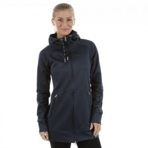 Casall Tech Long Hood Vetoketjuhuppari Sininen