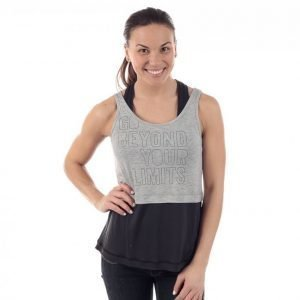 Casall Two Tone Tank Treenitoppi Harmaa / Musta