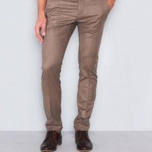 Castor Pollux Classius Trousers Dark Beige Flannel