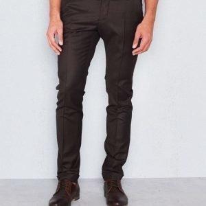 Castor Pollux Classius Trousers Dark Brown Flannel