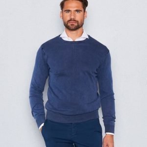 Castor Pollux Cottonius Navy Sweater Stonewashed