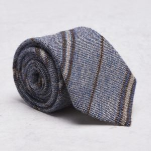 Castor Pollux Croatus Tie Indigo/Brown Wool